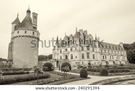 Chateau de Chenonceau in Loire Valley, France.