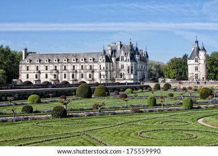 Chateau de Chenonceau, Loire, France  - stock photo