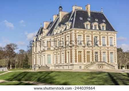 Chateau de Sceaux - grand country house in Sceaux, Hauts-de-Seine, not far from Paris, France. Located in a park laid out by Andre Le Notre, it houses Ile-de-France Museum, a museum of local history.