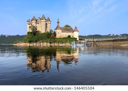Chateau de Val in Auvergne, France - stock photo