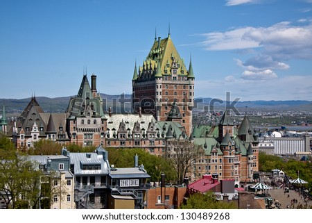Chateau Frontenac Hotel - stock photo
