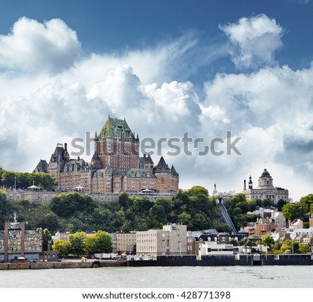 Chateau Frontenac Hotel  in Quebec City, Canada - stock photo