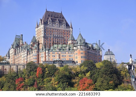 Chateau Frontenac in autumn, Quebec City, Canada