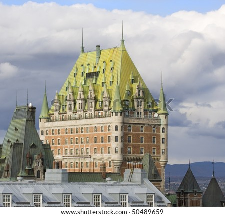 Chateau Frontenac, Quebec City - stock photo