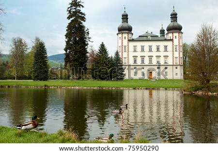 Chateau Vrchlabi, Bohemia - stock photo