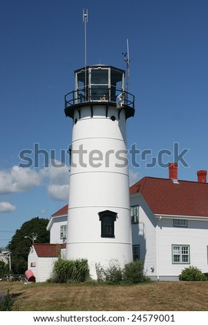 Chatham Light House on Cape Cod - stock photo
