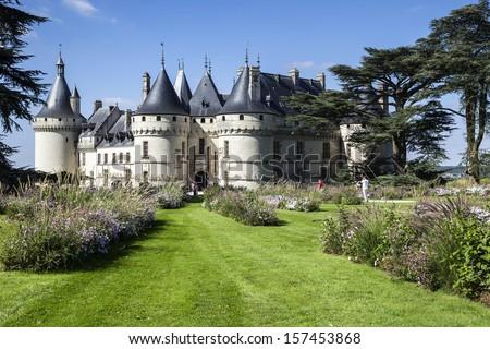 Chaumont-sur-Loire castle. France. Chateau of the Loire Valley. - stock photo