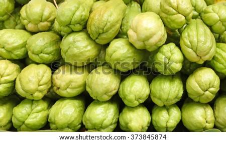 Chayote fruits - stock photo