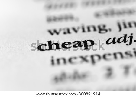 Cheap - stock photo