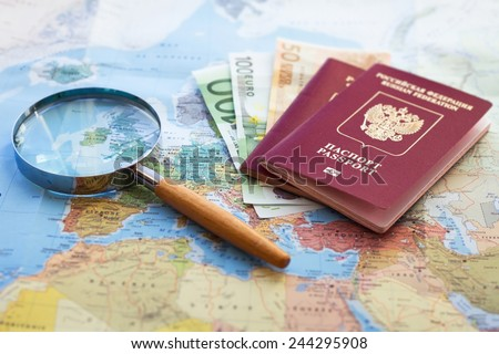 cheap trip, searching for low coast travel - stock photo