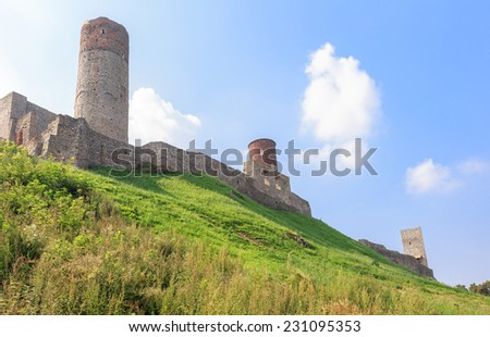 Checiny Royal Castle near Kielce, Poland