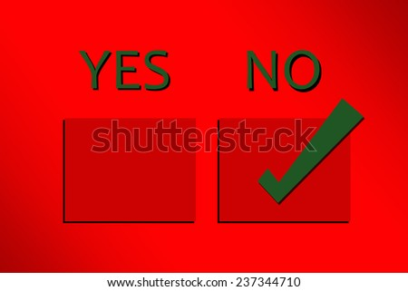 Yes No Or Tickbox Stock Photos, Images, & Pictures ...