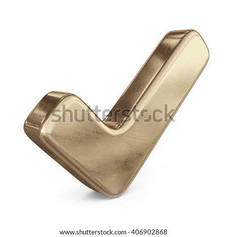 check checkmark icon tick mark. 3D isolated - stock photo