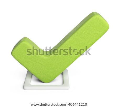 Check 3D. checkmark icon isolated