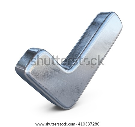 check 3D. checkmark tick icon isolated - stock photo