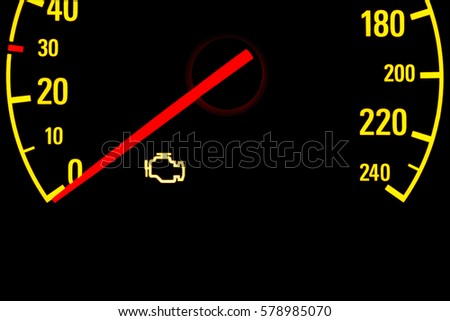 Check Engine Light Stock Images RoyaltyFree Images  Vectors - Car sign on dashboard