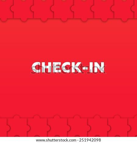 CHECK-IN - stock photo
