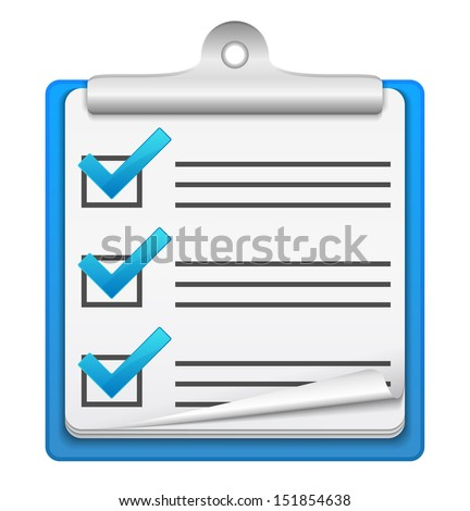 Check list icon - stock photo