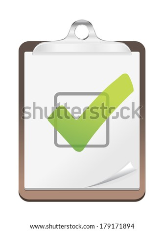 check list icon - stock photo