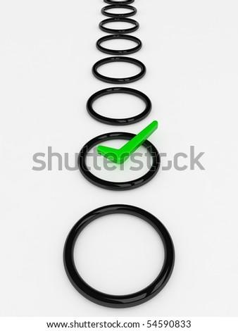 Check list Symbol - stock photo