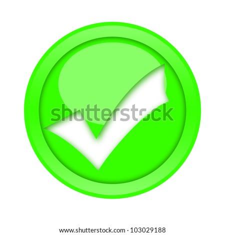 Check mark button - stock photo