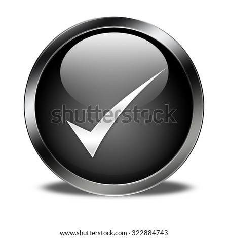 check mark button isolated