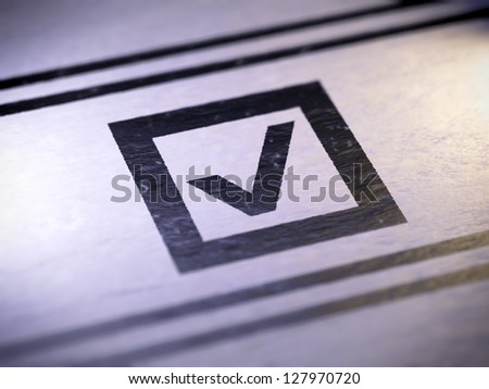 check mark  Full collection of icons like that is in my portfolio - stock photo