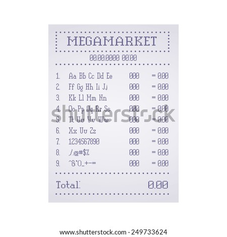 Check out the supermarket template - stock photo