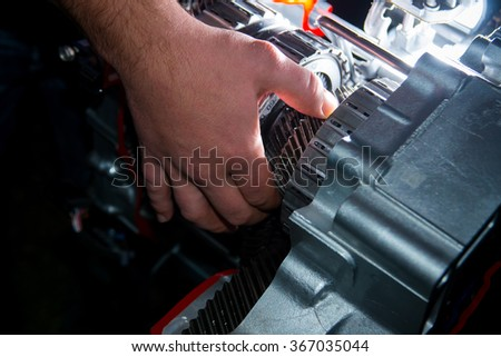 Check the transmission car - stock photo