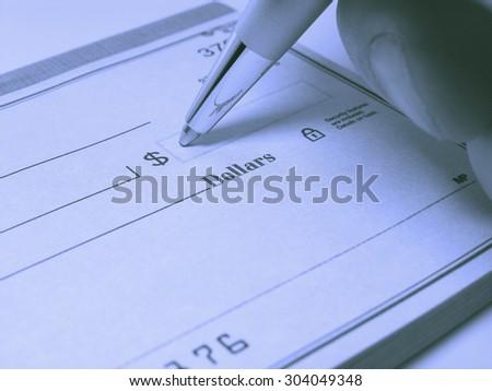 Check Writing - stock photo
