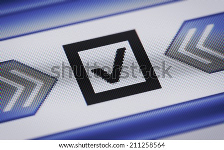 Checkbox - stock photo