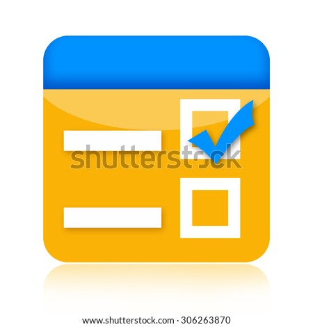 Checkbox icon - stock photo