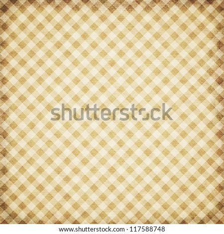 Checked paper template texture in retro style in retro style - stock photo