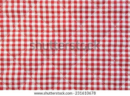 Checked quilted fabric - stock photo