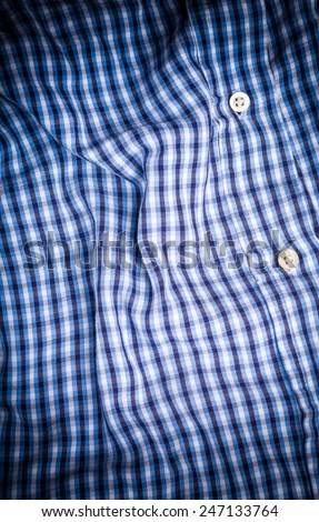 checked shirt background - stock photo