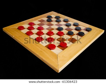 checker board with checkers isolated on background