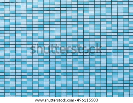 Checkerboard or chessboard pattern in blue as background