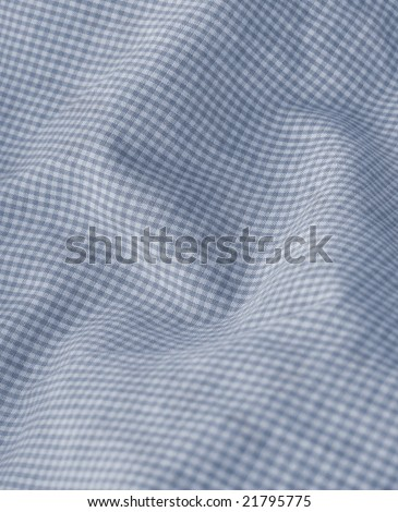 Checkered blue fabric closeup. More of this motif & more fabrics in my port. - stock photo