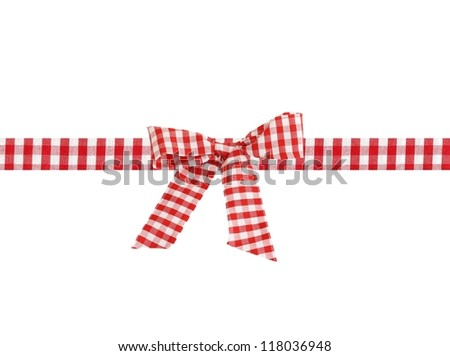 checkered bow - stock photo