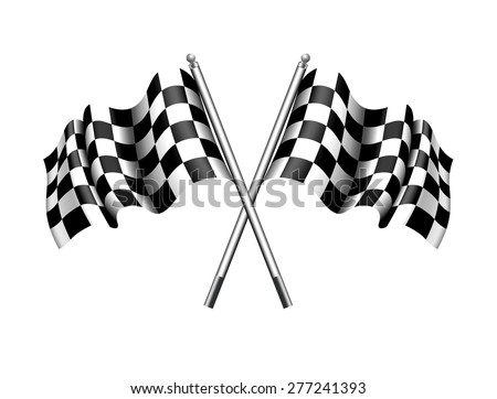 Checkered, Chequered Flags Motor Racing - Raster Version