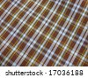 Checkered fabric closeup. Series - brown & blue. Good for background. More fabrics available in my port. - stock photo