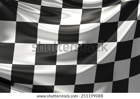 Checkered flag. - stock photo