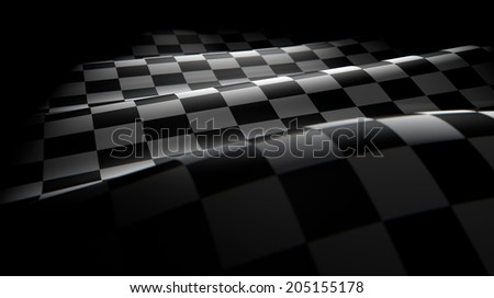 Checkered flag wave - stock photo