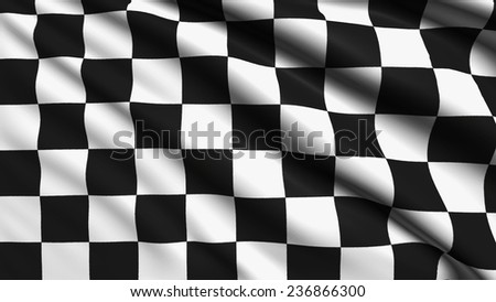 checkered flag with fabric structure