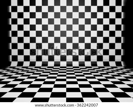 Checkered floor stock images royalty free images for Black and white check floor