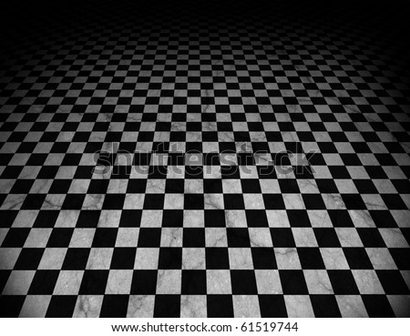 Checkered marble floor