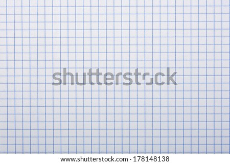 Checkered paper, a background or texture - stock photo