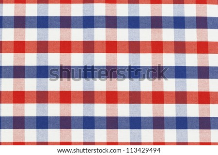 Checkered piece of cloth in vintage style - stock photo