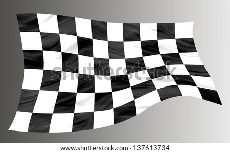 Checkered racing flag - stock photo