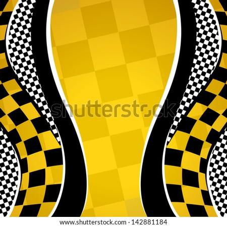 checkered sport racing flag background bitmap. jpg version - stock photo